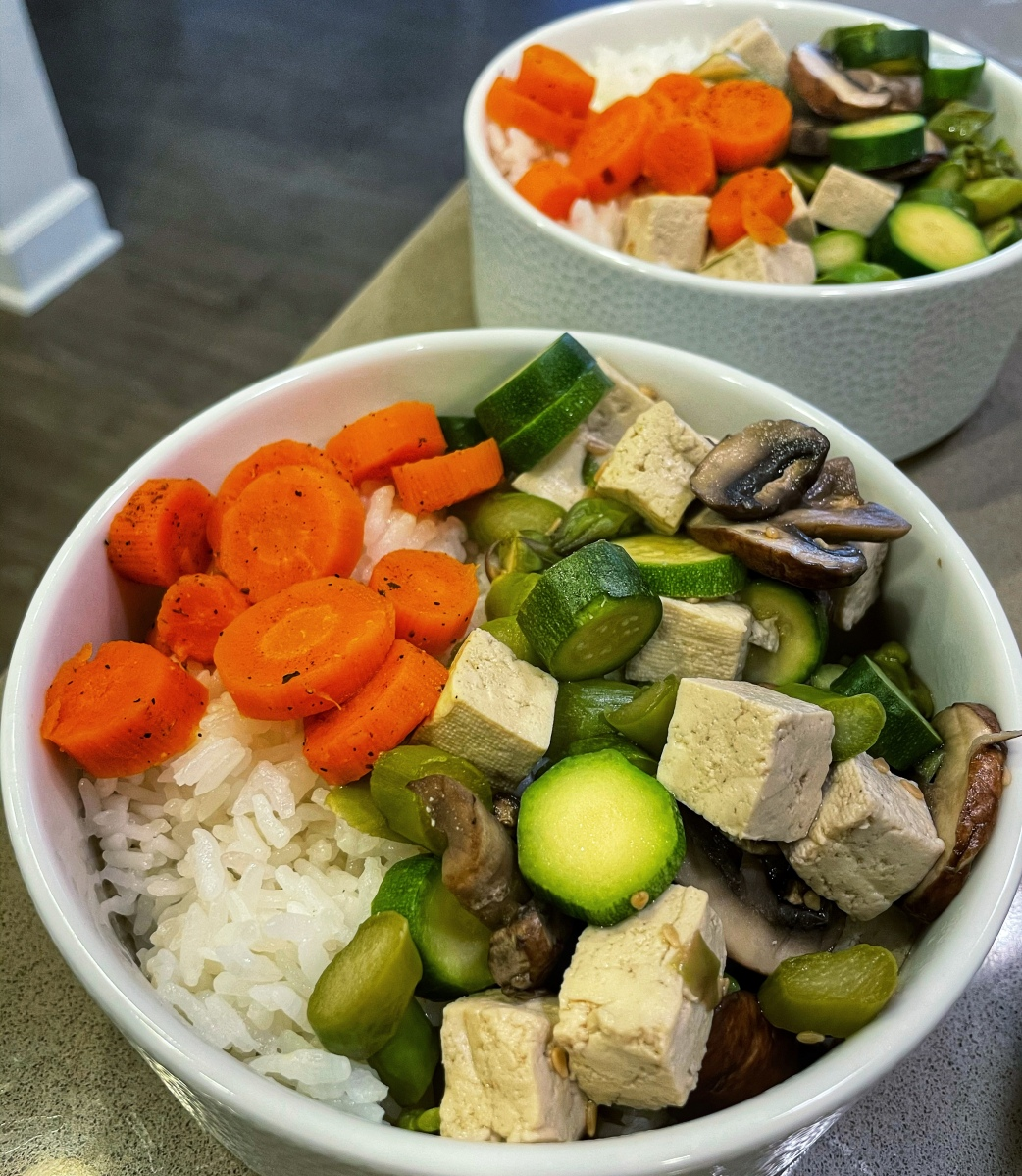 Low fat low sodium low salt easy and tasty recipe with vegetables and tofu